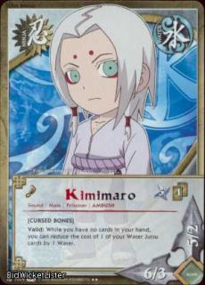2X N 1029 PARALLEL FOIL Kimimaro Rare Naruto Card