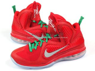 Nike Lebron 9 IX Christmas Edition Sport Red Reflect Silver Lucky