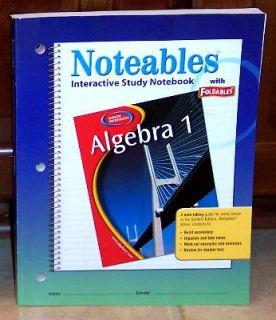Glencoe Algebra 1 Notable Foldable Study Guide New
