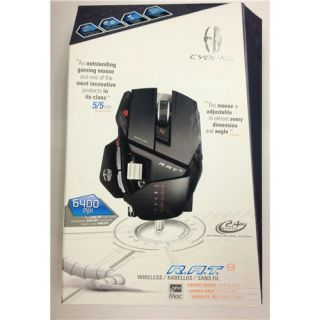 Laser Mad Catz Gaming Mouse for PC & MAC RAT 9 6400 DPI