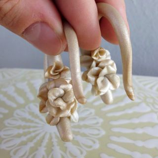 Gauged Earrings Ear Hangers Bridal Wedding Floral 8g 6g 4G 2G 0g 00g 1