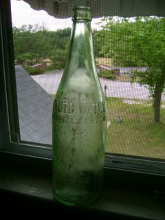 Americas Physic Vintage Bottle Embossed Green Glass French Lick IN