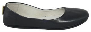 French Sole New York FS/NY Sloop Black Nappa Leather Flats