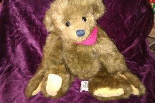 Ganz Jointed Brown Teddy Bear by Artist Christy Rave 1995 Cottage