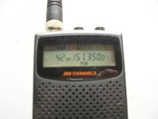 radio shack pro 82 200 ch hand held police scanner