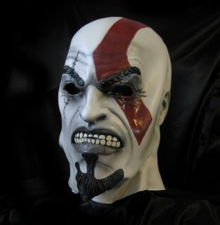 New Kratos God of War Video Game Halloween Adult Latex Full Head Mask