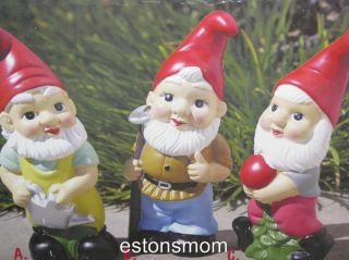 Piece Garden Yard Gnomes Boxed Gift Set Brand New