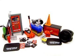 Mechanic Garage Accessories Tools Set 1 24 Diecast 23pc