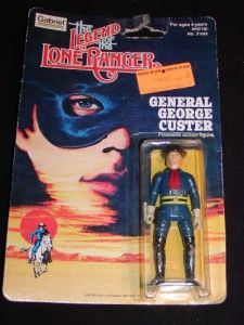 OF THE LONE RANGER Action Figure Toy GENERAL CUSTER, c1980 by Gabriel