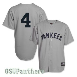 Lou Gehrig New York Yankees Cooperstown Grey Road Jersey Sz s 2XL