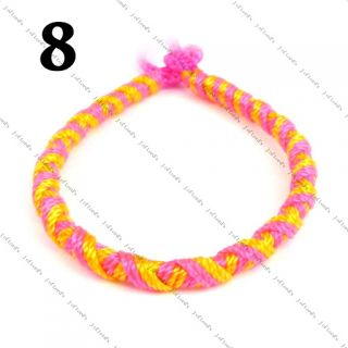 Stackable Twisted Twist Peruvian Friendship Bracelets Party Bag