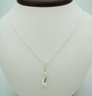 Co. 925 Sterling Silver Frank Gehry® Orchid drop pendant Necklace