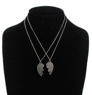 Necklace Bff Set Friends Forever 2 Piece Silver Plate Best Broken
