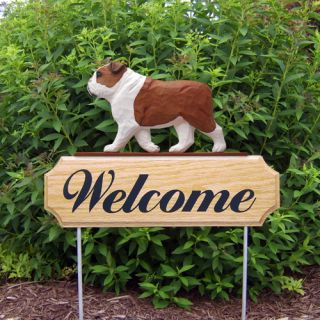 Welcome Sign Stake Home Yard Garden Dog Wood Products Gifts
