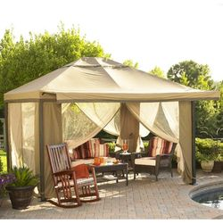 12 x 10 Fold Down Valence Gazebo Replacement Canopy