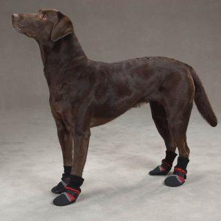 Warm Fleece Lined Winter Dog Boots Snow Ice Waterproof