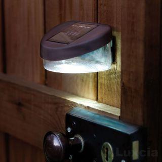 Solar Door Lock Light Shed Porch Garden Wall Fence LED