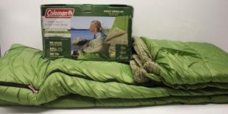 Coleman Green Valley Cool Weather Sleeping Bag 100 Polyester Fill