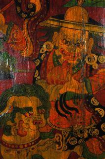 Antique Tibetan Shaman Gate Panel Divider Asian Art