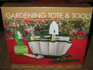 Nature Gardening Tote Tools Pruner Mister Rake Snipper Spade Trowel