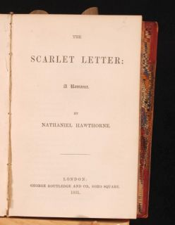 1851 Novel House of Seven Gables by N Hawthorne First