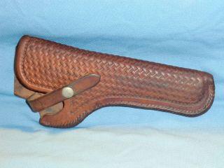 vtg Leather GEORGE LAWRENCE Belt Holster COWBOY WESTERN S W K Frame