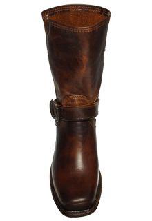 Frye Womens Boots Cavalry Strap 8L Dark Brown Leather 77417 Sz 7 M