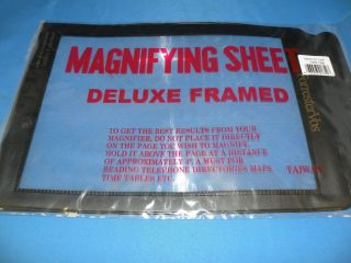 Full Page Magnifying Book Magnifier Lens Sheet Reading Glass Vision