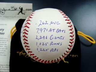 Gary Carter Ltd. Edition Signed STATBALL Baseball RJ Coa