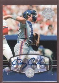 GARY CARTER /50 METS AUTO SP 2004 UD LEGENDS TIMELESS TEAMS ON CARD