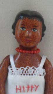 Fung Hicks Mahogany Dark Cherry Wood Hitty Doll Original Owner Circa