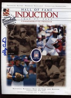 Gary Carter NY Mets Expos Signed HOF 2003 Cooperstown Auto Induction