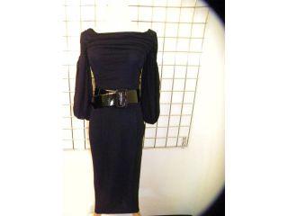 Giambattista Valli Sexy Black Belted Dress M