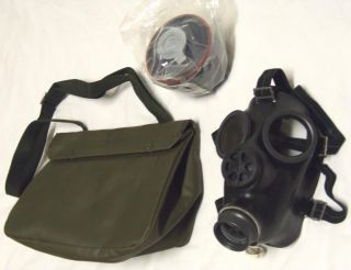 Swiss SM74 Gas Mask, 40mm Filter, Bag & Antifog Kit Unissued Military