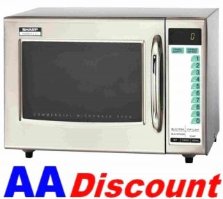 New Sharp Medium Duty Commercial Microwave Oven R21LTF 120 Volt 1000