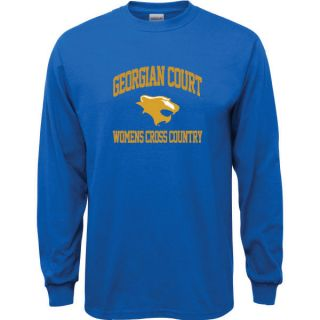 Georgian Court Lions Royal Blue Womens Cross Country Arch Long Sleeve