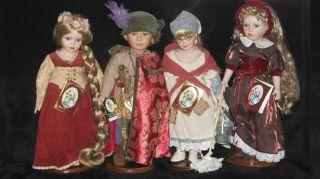 Geppeddo Porcelain Dolls from Fairy Tale Series