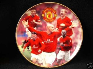 Manchester United Football Plate Beckham Giggs Scholes