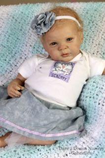Reborn Baby Newborn Girl Lifelike Realistic Doll Gabriel Fagan D2DN