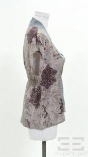 Geren Ford Purple Blue Silk Top Size L