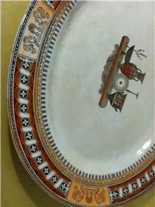 Antique 1850 Era Large Staffordshire England Transferware Platter