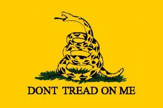 Dont Tread on Me Tea Party Gadsden Flag Sticker 3X5