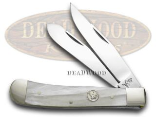 German Bull Cracked Ice Celluloid Trapper Pocket Knife Knives