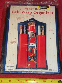 Holiday Gift Wrap Hanging Organizer for Wrapping Paper Bows Ribbons