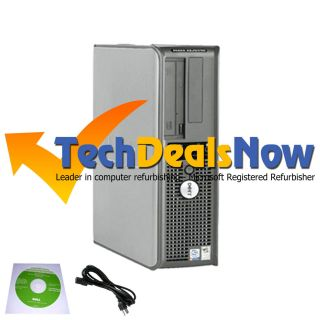 Dell Dual Core 3 4 GHz Desktop Computer PC 4GB RAM 80GB HDD Windows 7