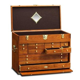 Gerstner Wood Tool Chests Ultimate Treasure Chest American Cherry