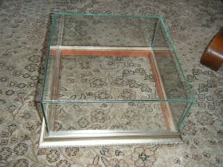 Medium Sized Gold Wood Framed Glass Display Case Shadow Box