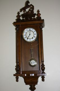 Vintage Regulator Wall Clock with Great Chime and Horse Decoration