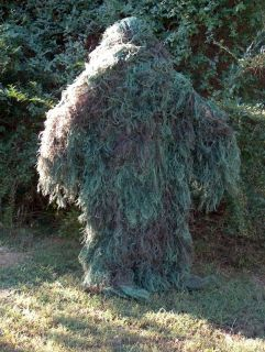 Ghillie Suits Poncho Full Camouflage Suit Leafy Grn