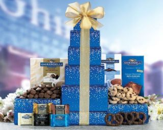 Ghirardelli Tower Gift Basket Congratulation Birthday Thank You